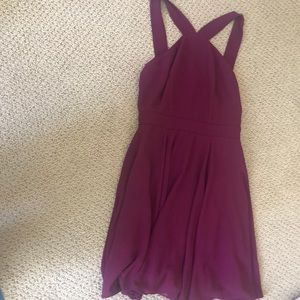 Lulu's maroon mini dress
